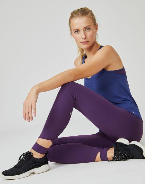 Amaro Feminino Legging Com Cos Elastico, Roxo