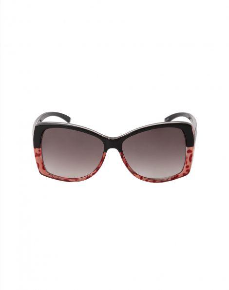 Amaro Feminino Óculos De Sol Quadrado Bicolor, Vermelho