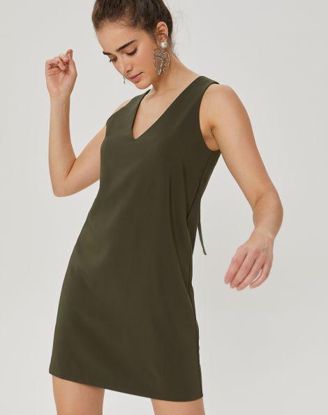 Amaro Feminino Vestido Curto Detalhe Costas, Verde