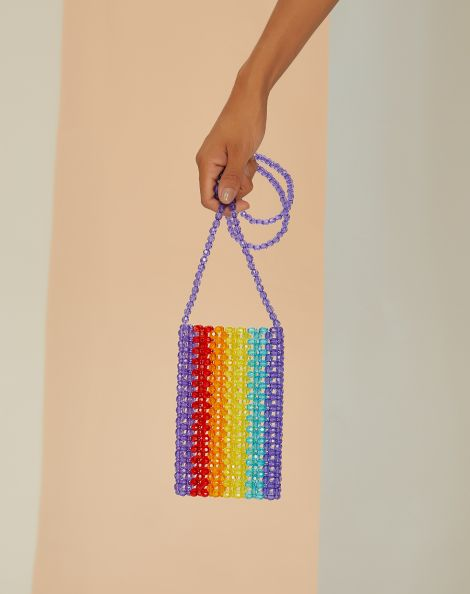 Amaro Feminino Bolsa Mini Color Beads, Multi