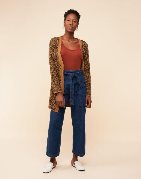 Amaro Feminino Calça Jeans Pantacourt Com Cinto, Azul