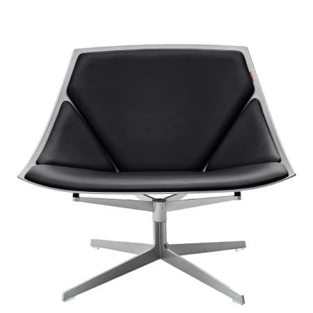 Fritz Hansen - Space Sessel, Leder schwarz, ohne Drehfunktion