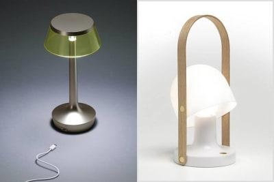 Unsere Top 6 der tragbaren und kabellosen LED Designleuchten für Innen- und Aussenbereich.