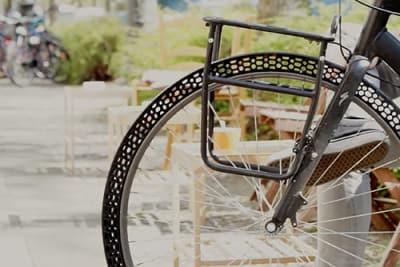 Weltweit erster luftloser Fahrradreifen aus dem 3D Drucker
