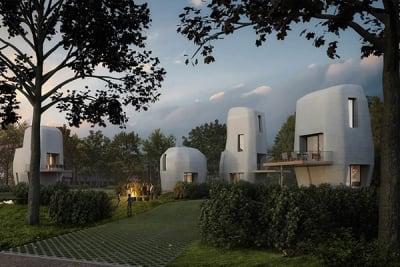 Erste 3D-gedruckte Beton-Siedlung entsteht in den Niederlanden