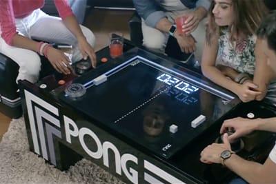 Der Atari Pong-Table, Spielkonsole und Beistelltisch in einem