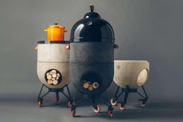 Noori Ofen: dient als Grill-, Pizzaofen und Feuerstelle
