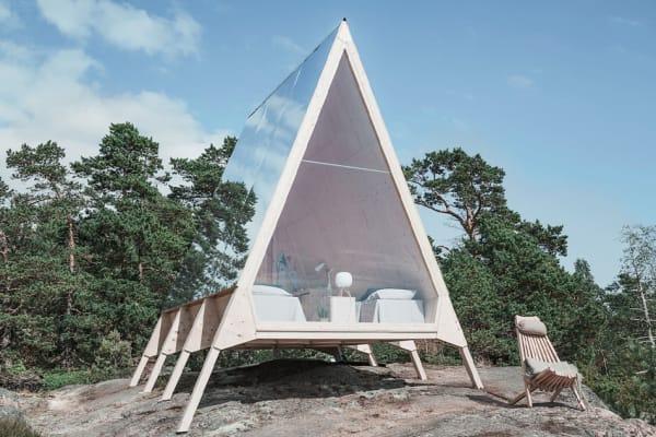Nolla Cabin die Ferienhütte an der Küste vor Helsinki