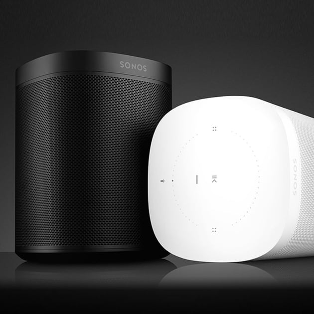 amazcy sonos one wlan lautsprecher mit amazon alexa. Black Bedroom Furniture Sets. Home Design Ideas
