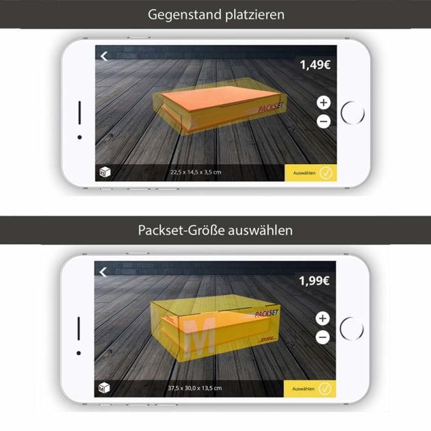 DHL Packset App – die richtige Paketgröße finden