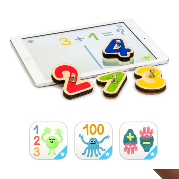 Smart Numbers Vernetzte Holzzahlen für Tablets