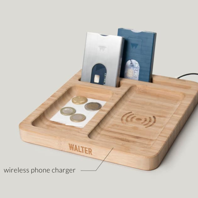 Die Walter Bambus Wireless Ladestation