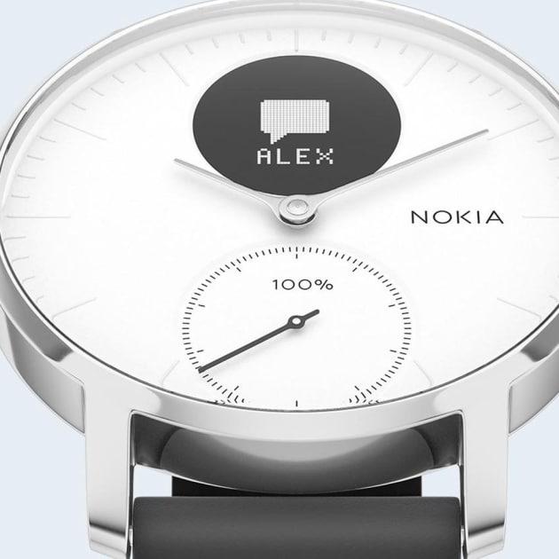 Aktivitäts- & Herzfrequenzfunktion Nokia Steel HR Fitnessuhr