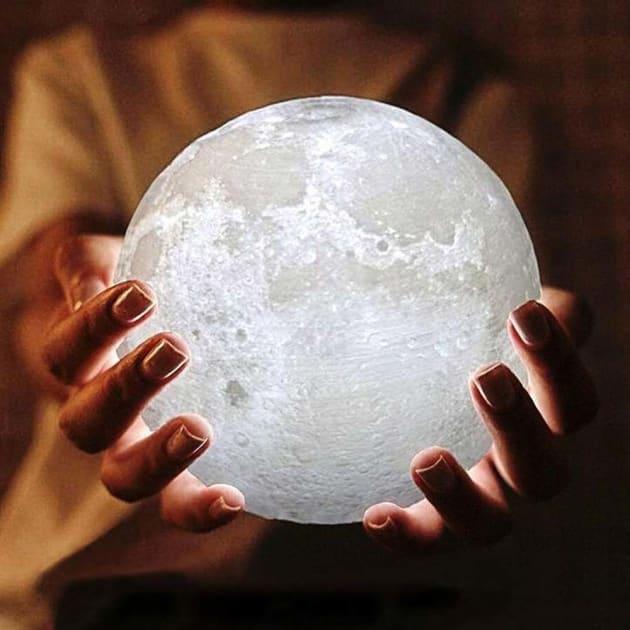 Das gefallene Mondlicht, die 3D Mondlampe