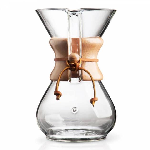 Chemex Kaffeekaraffee mit Holzhals