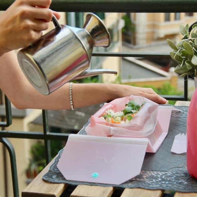 VI: die erste faltbare Lunchbox für die Tasche