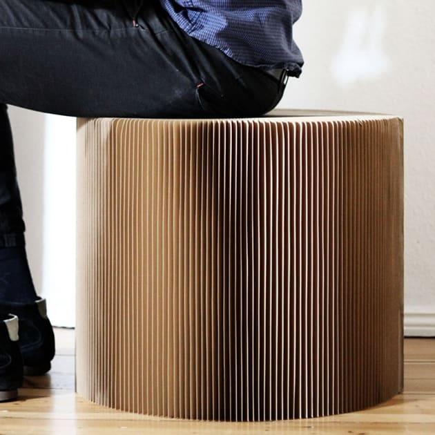 Faltbarer Hocker/Tisch aus Papier – Favino medium XL