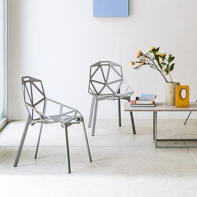 Magis Stapelstuhl – Chair One aus Aluminium von Konstantin Grcic