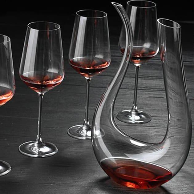 Wein Dekantierer 1200ml aus Kristallglas
