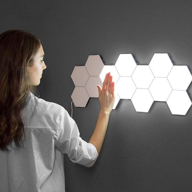 Helios Touch – Modulare Wandbeleuchtung, sechseckig