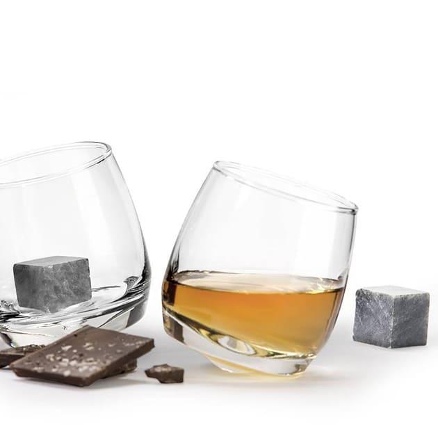 Praktische Granit Whiskysteine von Sagaform