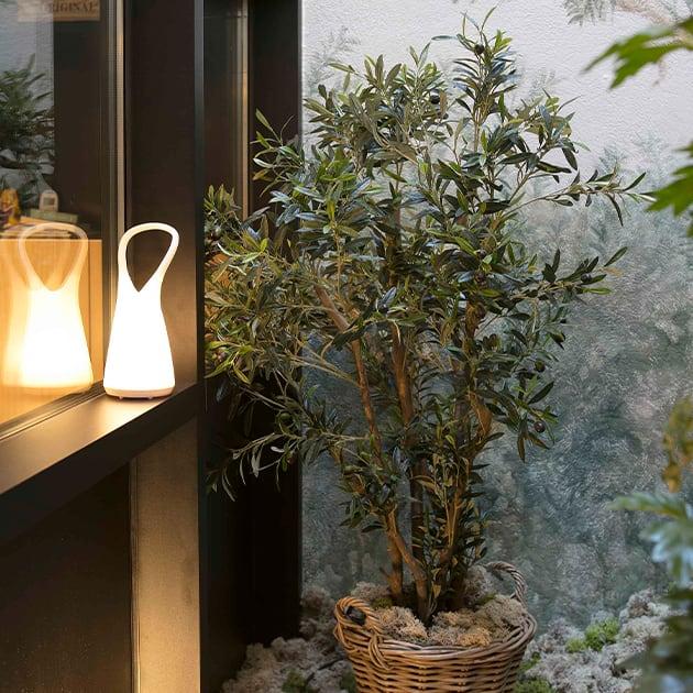 Stimmungsvolle tragbare Outdoor-Leuchte, Boo von Faro Barcelona