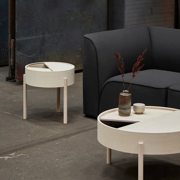 Arc Beistelltisch von Woud – die Tischserie mit Stauraum