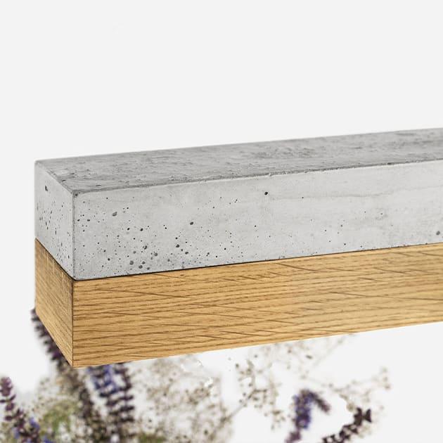 [C1]oak Hängeleuchte aus Eichenholz und Beton von GANTligths