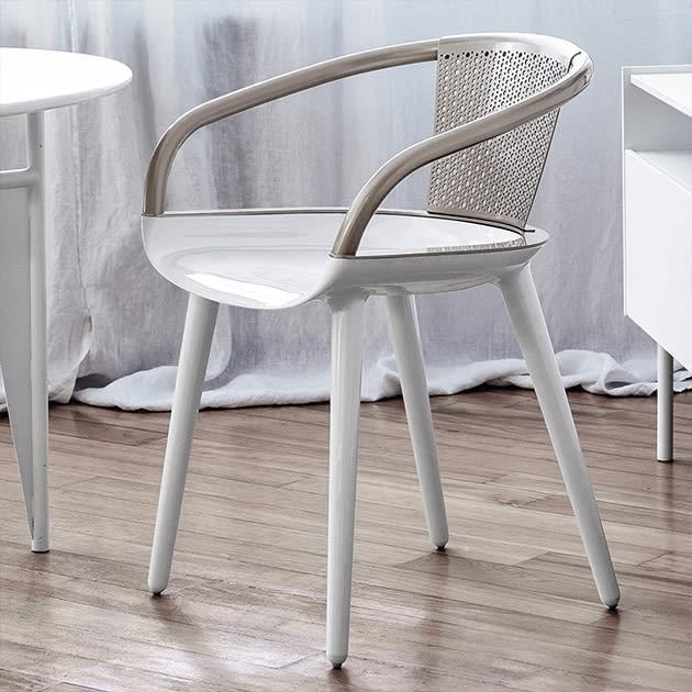 MAGIS Cyborg Daisy Designer Stuhl aus Aluminium für innen und außen