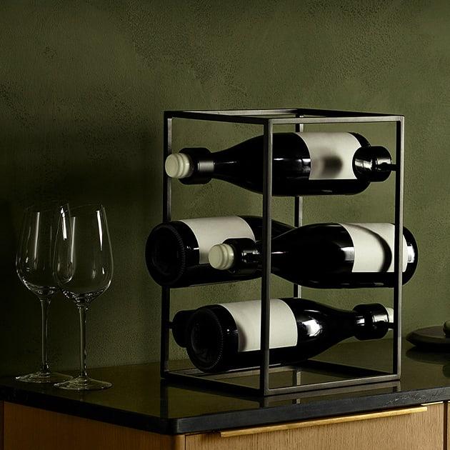 Eva Solo Weinwürfel für 6 Flaschen – elegantes Weinregal aus der Nordic Kitchen Serie