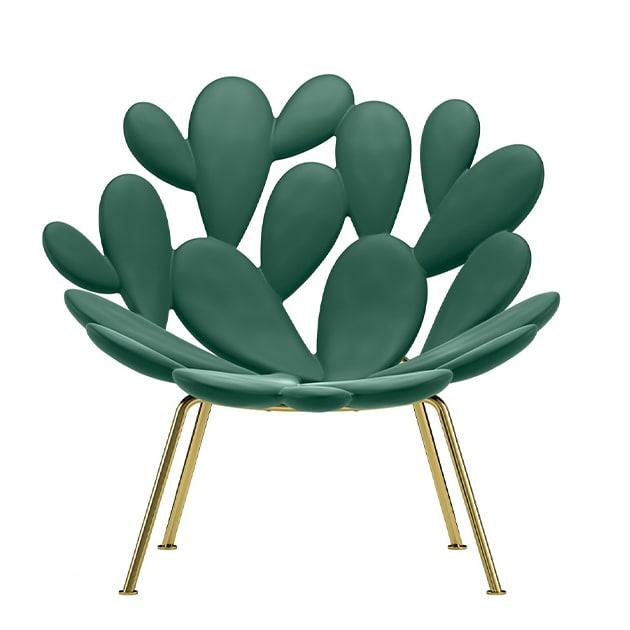 Filicudi Sessel von Queeboo in Kaktus-Optik für sinnlichen Sitzcomfort