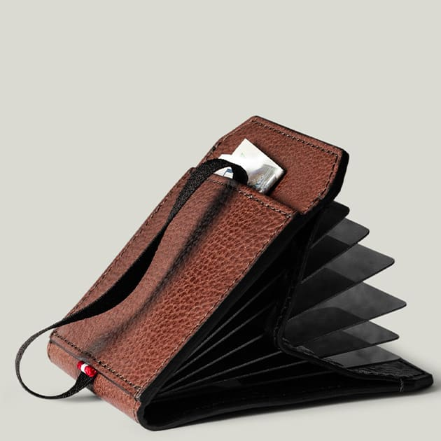 hardcraft Kreditkartenhülle aus feinstem italienischem Leder