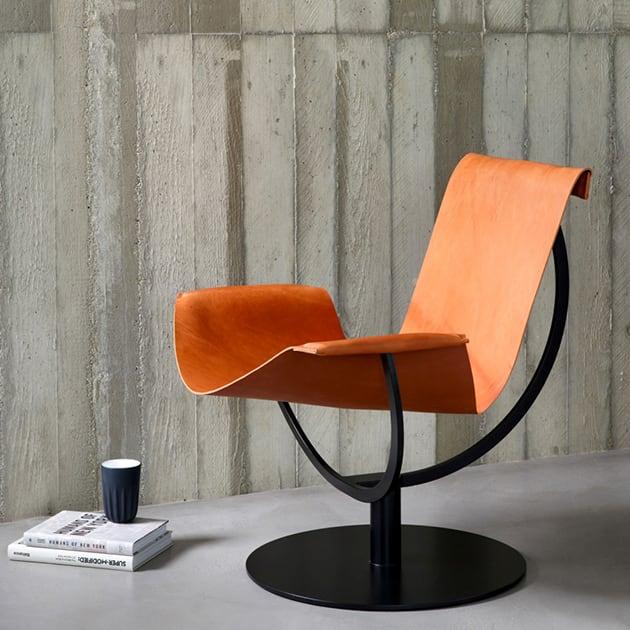 Filigraner Arch Chair von favius -außergewöhnlicher Ledersessel designed by Martin Hirth