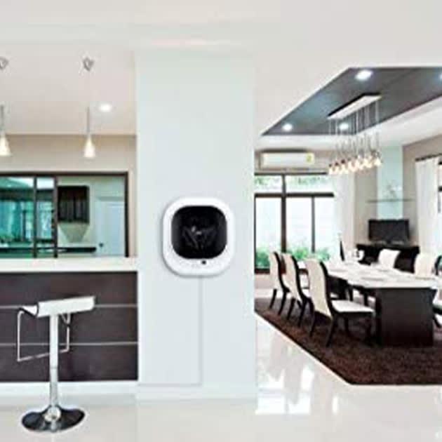 Daewoo Mini Waschmaschine in der Wand integriert