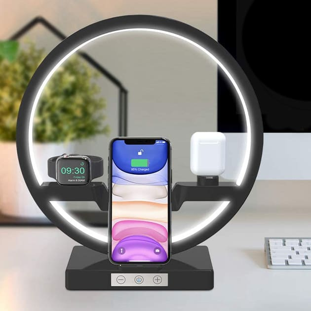 Wireless Charger mit LED Lampe von Bestrans