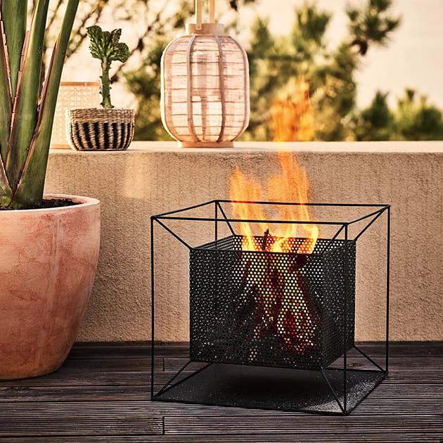 Feuerkorb für den Balkon, Garten oder die Terrasse