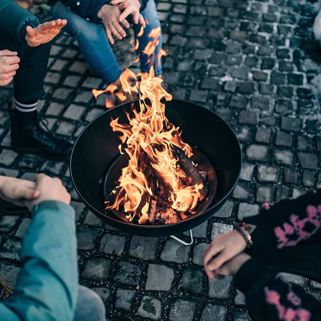 Bowl von höfats – Feuerschale, Grillrost, Plancha