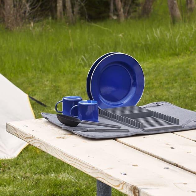 Udry, praktisches Abtropfgestell mit Trockenmatte – einrollbar
