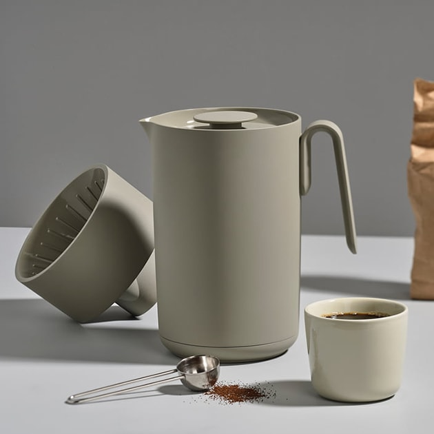 Singles Thermoskanne mit Kaffeefilteraufsatz