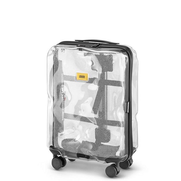 Crash Baggage – transparenter Koffer in verbeulter Optik