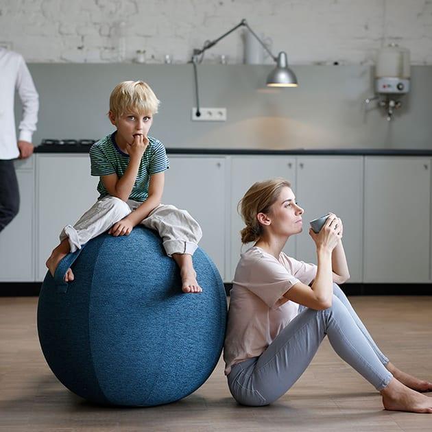 Bleib in Balance mit VLUV LEIV Stoff-Gymnastik-Sitzball für In- und Outdoor