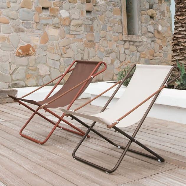 Filigraner Vetta Liegestuhl von EMU aus Stahl und Seil
