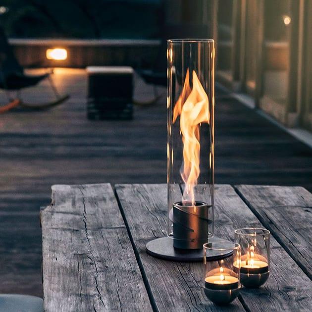 Bioethanol Windlicht SPIN von höfats für den Außenbereich