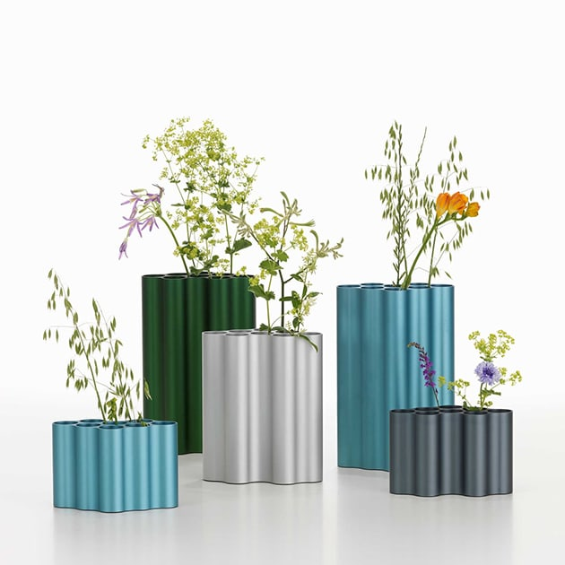 Kunstvolle Blumenvase Nuage von Vitra aus Aluminium