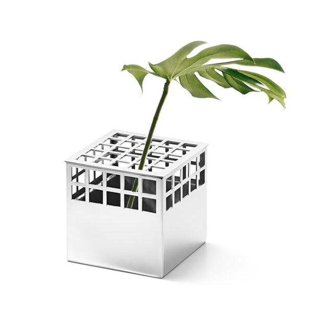 Würfelförmige Matrix Cube Vase von Georg Jensen – auch Stifthalter
