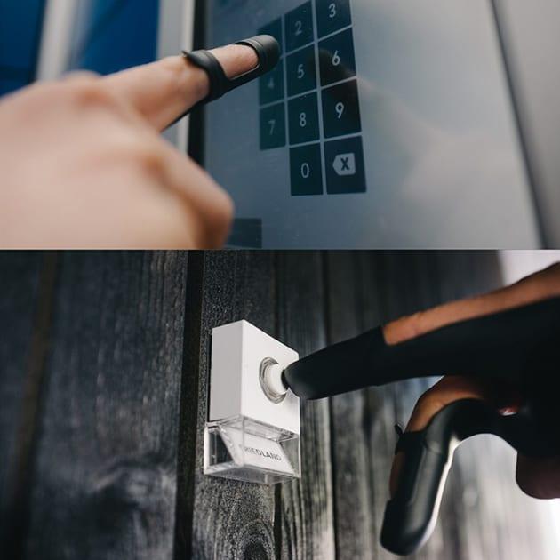 KOURA – Drei-Finger-Handschuh für weniger direkten Kontakt mit Oberflächen