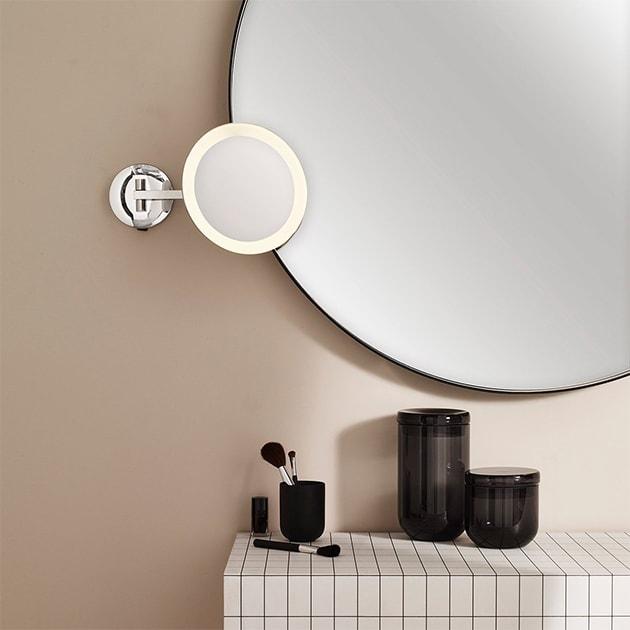 Mascali Round LED Schminkspiegel, unisex