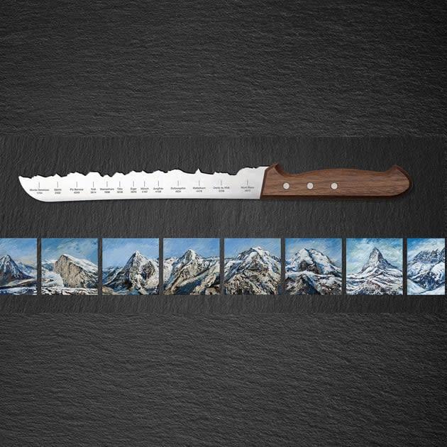 Brotmesser mit Bergpanorama – Best of Switzerland