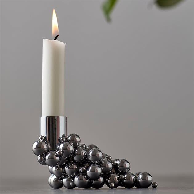Molekyl Kerzenhalter zum Selbstgestalten mit Magnet und Stahlkugeln