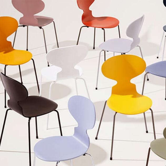 Ant Stuhl – die Ameise – ein Klassiker von Fritz Hansen stets modern